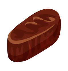 chocolate truffle icon cartoon style vector image