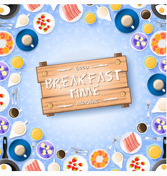 colorful breakfast concept vector image