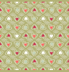 colorful graphic hearts vector image