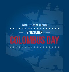 Columbus day background style collection vector