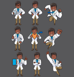 doctor indian set vector image