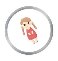 Doll cartoon icon for web and mobile vector image