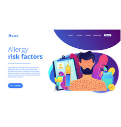 drug allergy concept landing page vector image