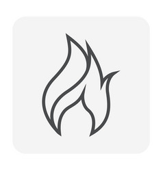 flame icon black vector image