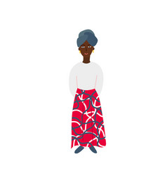 Girl woman african clothing character vector