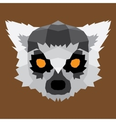 Gray low poly lemur vector