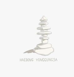 Haedong yonggungsa seaside temple vector