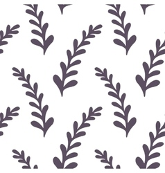 Hand drawn floral seamless pattern Monochrome vector image