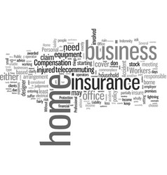 Insurance matters to a home office vector