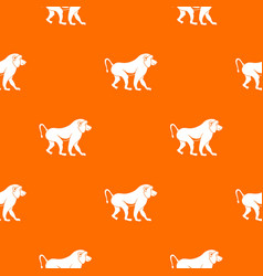 Japanese macaque pattern seamless vector