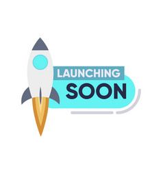 Launching soon page design app interface for smart vector