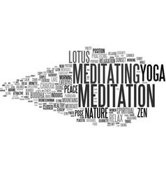 Meditation word cloud concept vector