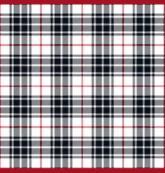 Navy blue and red tartan plaid seamless pattern vector