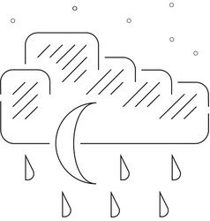 Night rain vector