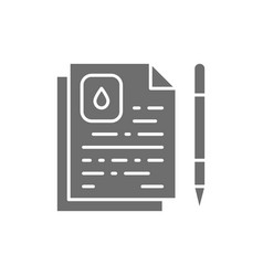 oil contract water agreement grey icon vector image