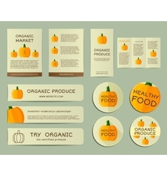 Organic business corporate identity design with vector