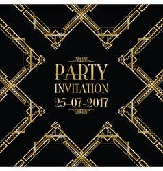 party invitation art deco vector image