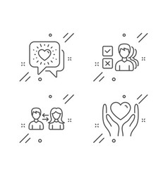 People communication opinion and friends chat vector