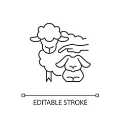 Petting zoo linear icon vector