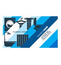 plumbing businesscard concept vector image