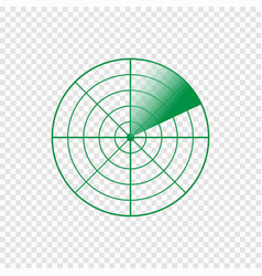 radar screen icon vector image