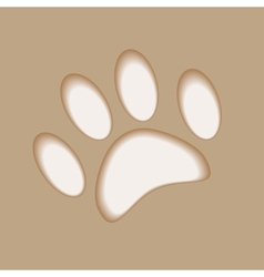Realistic animal foot applique cut paper with soft vector image