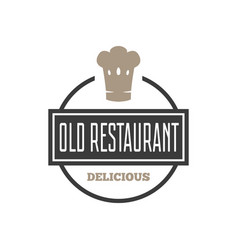 restaurant shop design element in vintage style vector image