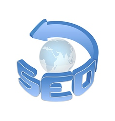 SEO sign vector image vector image