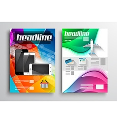 Set of Flyer Design Web Templates Brochure Designs vector image