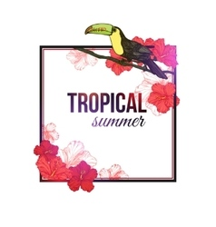 Shining tropical summer typographical background vector