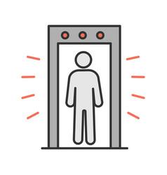 Signaling portal metal detector color icon vector