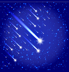 Space background with stars and comets vector