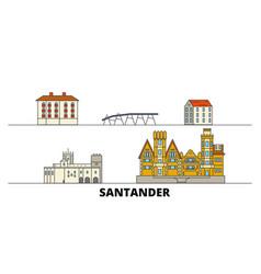 spain santander flat landmarks vector image