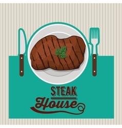 steak house design vector image