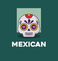 sugar skull icon vector image