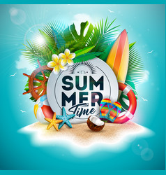 Summer time holiday vector
