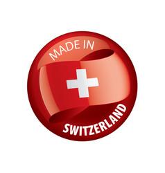 Switzerland on a white vector