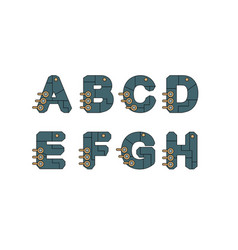 technology font set vector image