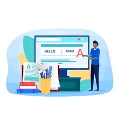 Translator and translation online service vector