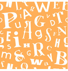 Various letters seamless pattern vector