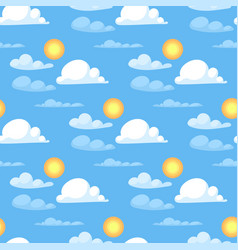 Weather cloudy summer blue sky sun pattern season vector