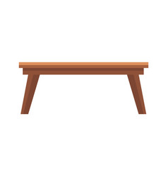 Wooden table office furniture equipment icon vector