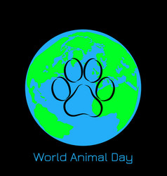 world animal day 4 october concept of an vector image