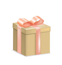 yellow gift box with a bow vector image