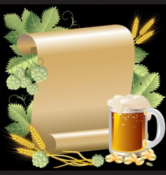 beer and roll vector image