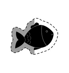 cute fish pet isolated icon vector image vector image