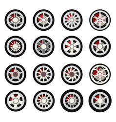 flat wheels car vector image vector image