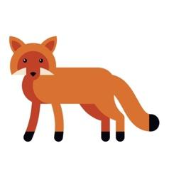 fox flat icon vector image