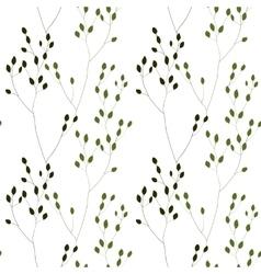 Green Romantic Weeds vector image