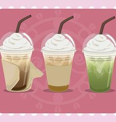 Ice coffee vector image vector image